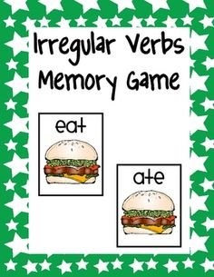 Free!! Irregular verbs memory game!!!