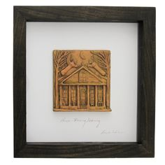 Framed Clay House Blessing Tableau with Guardian Angels. Signed by artist. $89.95 | The Catholic Company
