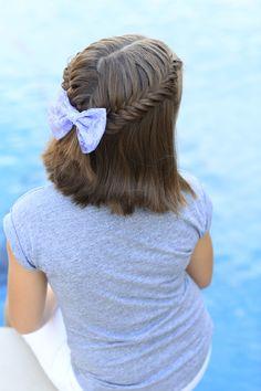 Loving this short hair braid!