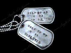 MILITARY GIFT: dog tags!!!!