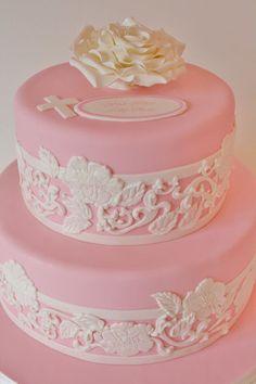 Christening and Baptism Cakes NJ - Lace Custom Cakes
