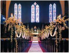 Memorable Wedding: Church Altar Wedding Decorations