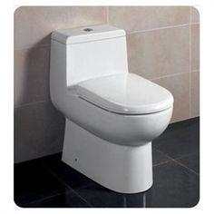Dual flush compact toilet - space saver!