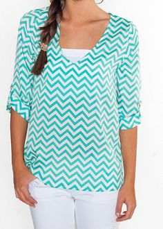 Teal Chevron Shirt
