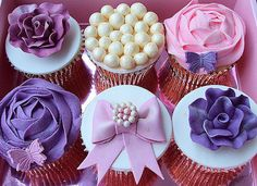 baby shower cupcakes, vintage weddings, shades of purple, mothers day, cupcake designs, colors, bridal shower ideas, wedding cupcakes, colorful weddings