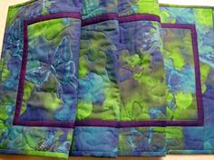 Quilted Table Runner Contemporary  Butterfly by KellettKreations, $29.00