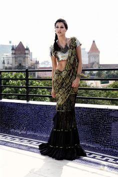 myShaadi.in > Indian Bridal Wear by Karishma Kimatrai #saree #indian wedding #fashion #style #bride #bridal party #brides maids #gorgeous #sexy #vibrant #elegant #blouse #choli #jewelry #bangles #lehenga #desi style #shaadi #designer #outfit #inspired #beautiful #must-have's #india #bollywood #south asain