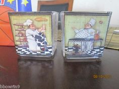 Italian FAT chef votive candles set of 2 | eBay