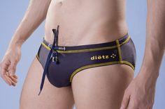 Dietz - Slip Swimsuit BA - Side - www.johnnybeachbuns.com