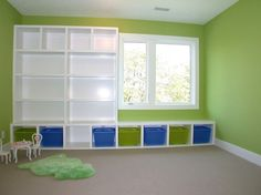 Storage Space in Children's Playroom