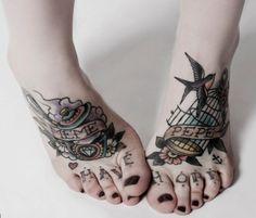 ankle tattoos, feet tattoos, pierc, foot tattoo, art, rose tattoos, toes, toe tattoo, tattoo ink