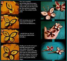 tsumami kanzashi fabric butterfly tutorials