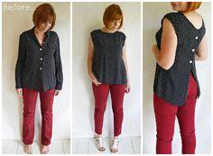 blouses, button, refashion jeans, refashion blouse, jean outfits, blous refashion, jeans refashion, refashion cloth, blouse refashion