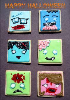 cute ZOMBIE cookies!!!!