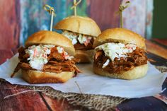 Sweet and Spicy BBQ Pulled Pork Sliders