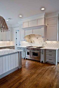 Gorgeous White and Gray Kitchen Tour Great ideas if you are remodeling your kitchen. www.cedarhillfarmhouse.com