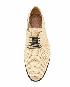 Bottega Veneta Soft Woven Straw Oxford, Natural - Neiman Marcus