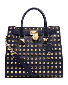 Michael Kors Studded Hamilton Tote Bag