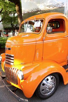 Old Orange Chevy Truck