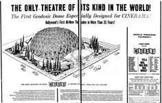 The Cinerama Dome, a landmark for L.A. filmgoers, opened to the public 50 years ago today. This two-page ad for the theater appeared in the ...
