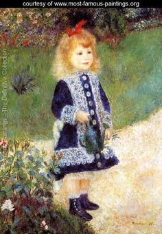 Girl With A Watering Can - Pierre Auguste Renoir - www.most-famous-paintings.org