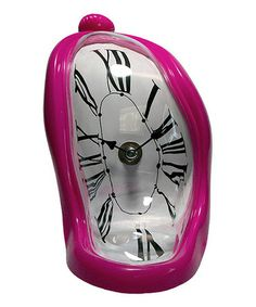 Loving this Pink Time Flow Clock on #zulily! #zulilyfinds