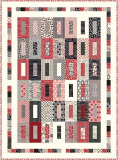 """The pattern is called """"All Lined Up"""" (58"""" x 79"""")  and is designed by our very own Carol Lawson."""