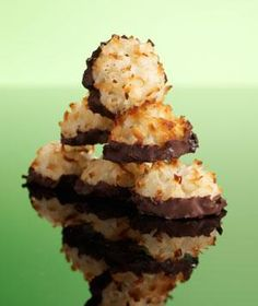 Today's cookie: Chocolate-Dipped Macaroons. See all of November's cookies right here.