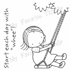 Pure Innocence Start The Day with Whee Clear Stamps MFT   eBay