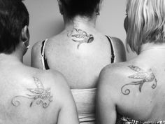 3 Lil Bird's Best Friend Tattoo's