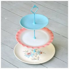 Candyfloss Cupcake Stand 3 Tier Cake Stand by freshpastrystand,