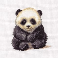 Little Panda Cub Anchor Counted Cross Stitch Kit , Black Sheep Wools