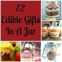 12 Edible Gifts In A Jar