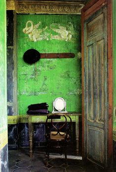 Room with Beautiful Patinas featured in book, Mexicolor   Paint + Pattern