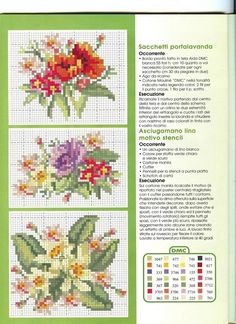Free cross stitch pattern - flowers