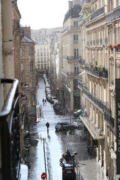Paris in the rain!