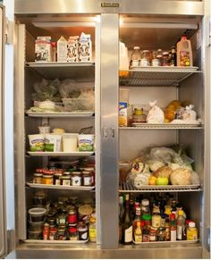 Take a peek into our test kitchen fridge!