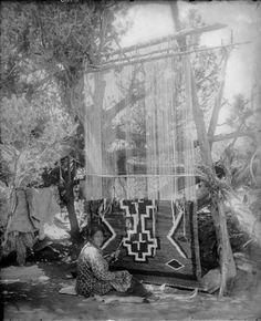 Navajo weaver - 1890