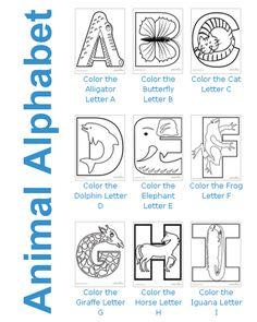 Color the Animal Alphabet #printables for kids