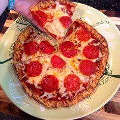 cauliflow crust, crust pizza