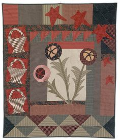 Quilt pattern - by Linda Brannock and Rita Briner, love the reds