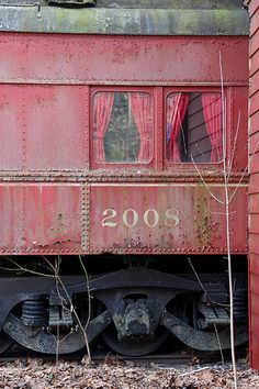 abandoned railroad car....