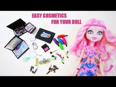 How to make doll cosmetics stuff for Monster High, Barbie and American Girl