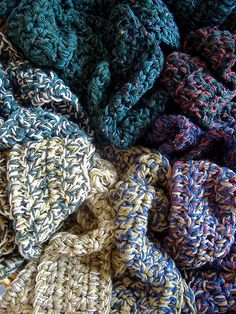 Crochet - 1 hour scarves using multiple strands at once
