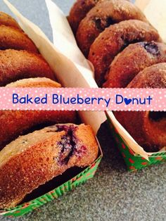 Homemade Baked Blueberry Doughnuts ribaswithlove.com