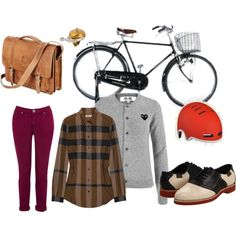 afternoon bike ride, created by angela-sauceda on Polyvore