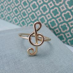 music note ring