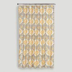 Golden Ikat Shower Curtain - World Market