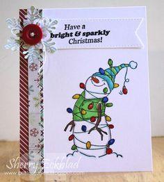 Christmas Sets Lighted Snowman Set (Sku#4349) Art Impressions ...winter card