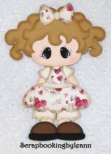 Vintage Shabby Chic girl paper piecing on Ebay <3